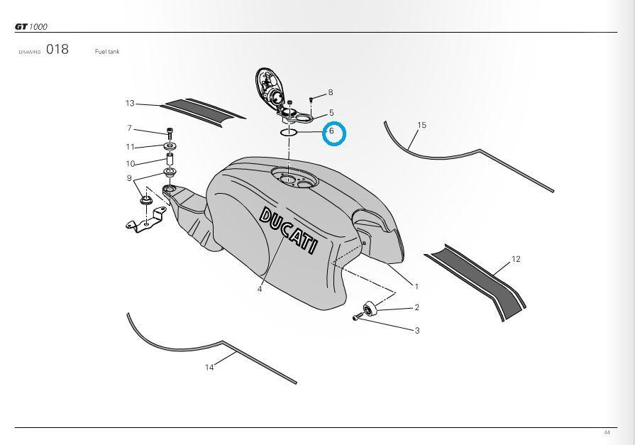 Ducati Fuel Filler Oring 749 999 Ms Sportclassic Pack Of 2 88640551a