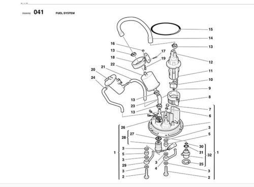ducati fuel pump oring 916  748  996  998  st2  st3  st4