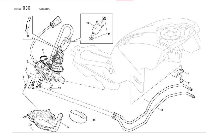 Ducati Fuel Pump Oring Seal 1098 1198 848 Ms Sf Pn 88650481a