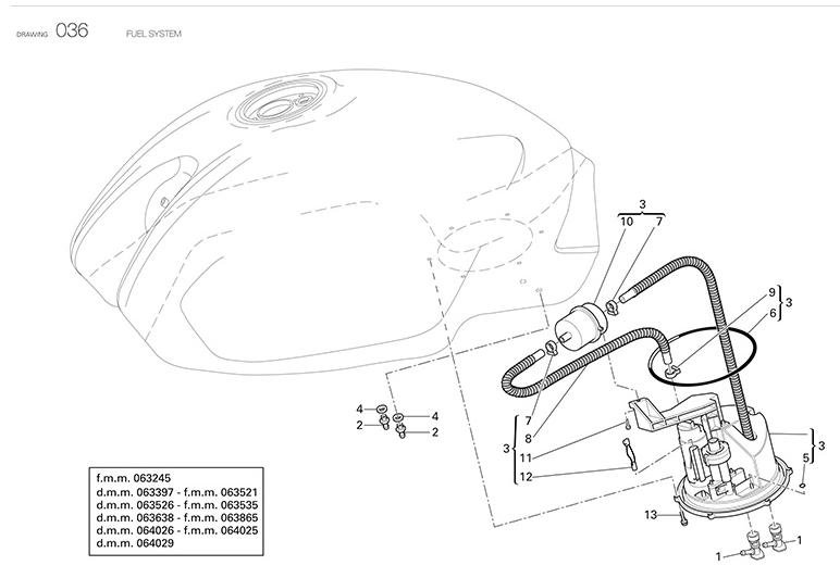 ducati fuel pump o ring hypermotard multistrada ms. Black Bedroom Furniture Sets. Home Design Ideas
